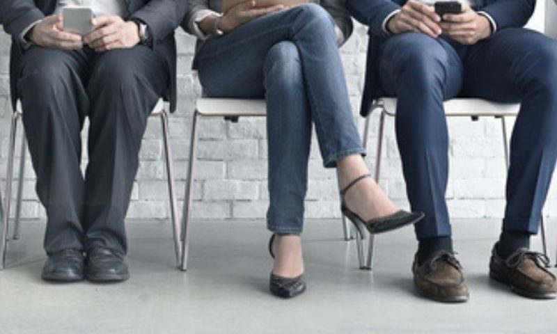 job applicants waiting for be interviewed
