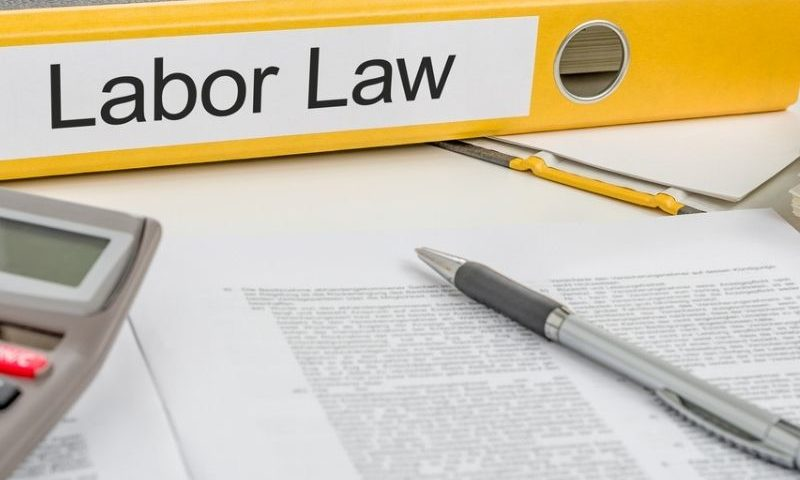 folder labelled labor law