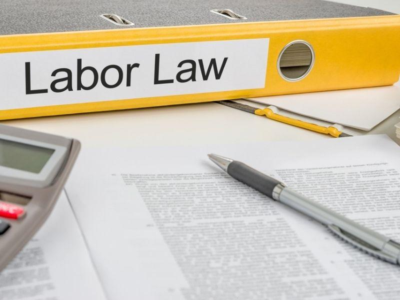 folder labelled labor law